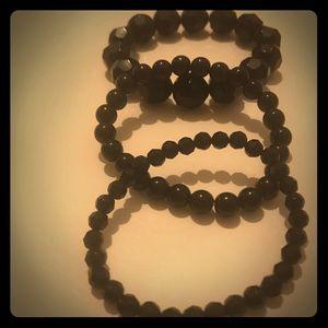 Bracelets..... Black Beaded.... BEAUTIFUL!!!